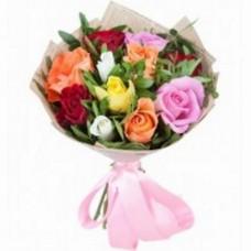 Букет из разноцветных роз (11шт.)